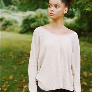 UO Out From Under Oversized Thermal Pink
